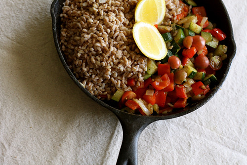 Roasted Tomato and Caramelized Onion Farro Salad - Joy the Baker
