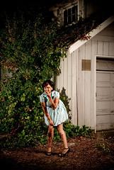 cara mia xo (metakephoto) Tags: house abandoned oregon portland highheels garage fear horror terror pdx scared suspense metakephoto jeffmawer strobist caramiaxo