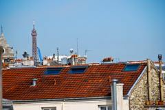 The view from our room. (Maya Lucchitta) Tags: paris france eiffeltower poemhotel apostrophehotel