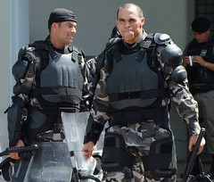 Warriors (Andria Solha) Tags: police battle armor shield warriors vests robocop policemen andriasolha acsolha veststhecandyproof