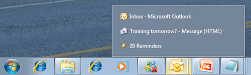 Hover Over Taskbar Shows Preview