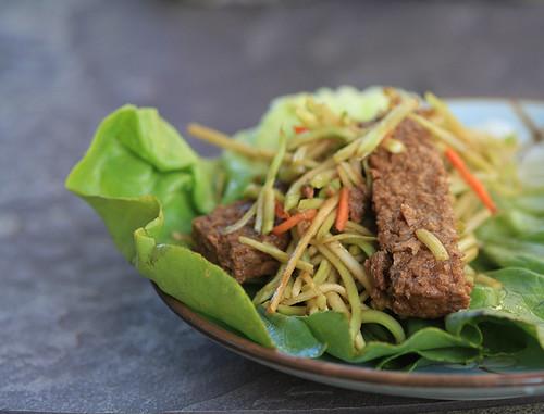 Vegan garden lettuce wrap