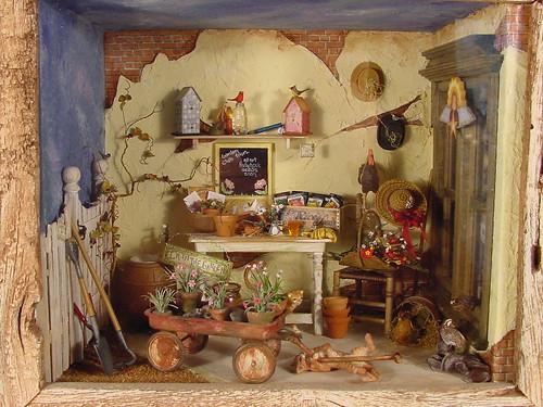 Miniature Gardening Scene 1 12 Scale Charles Wysocki A