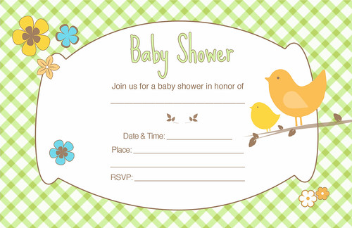 "Unisex baby shower invitation. 8.5"" x 5.5"". Click the invite to ..."