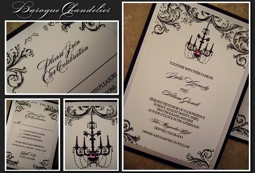 Baroque Chandelier Invitation