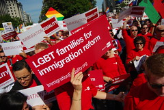 Immigration Equality's Red-clad Army