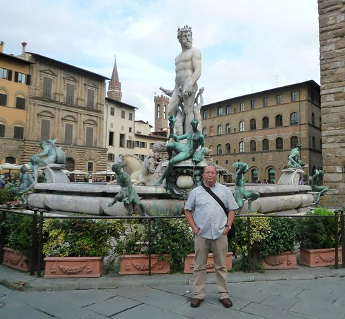 In Front of the Fountain of Neptune at Piazza della Signoria