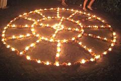 Diwali_Upasana_kolam+++211 (Manohar_Auroville) Tags: festival fireworks diwali luigi bharat auroville kolam deepavali fedele nivas manohar upasana