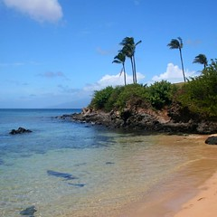 Made-for-snorkelling water awaits visitors at Kapalua Beach.