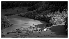 Landscape with farm, Reigoldswil, Switzerland (Werner Koenig) Tags: blackandwhite bw nature forest landscape switzerland blackwhite nikon d70 nikond70 farm jura baw baselland lauwil