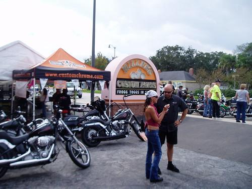 At South Daytona Beach during Biketoberfest