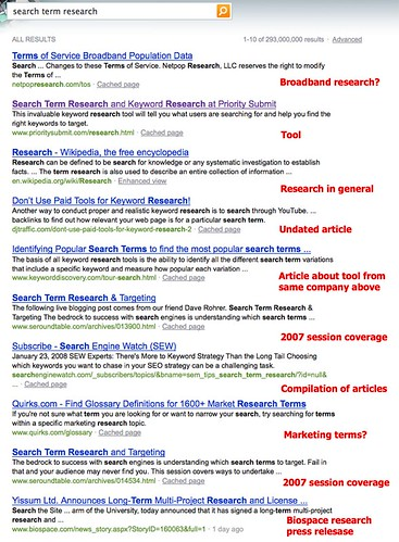 search term research - Bing