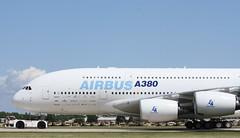 Airbus A380 (John. Romero) Tags: airplane star military 4 airshow b17 sabre planes airbus a380 shooting msn c17 transports f80 fighters a4 warbirds zero 2009 flyingfortress eaa oshkosh c130 c5 bombers a10 f86 b25 f15 shootingstar p40 841 fwwdd