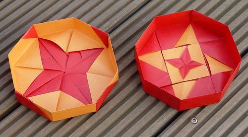 """Achteckschachtel """"Twin Stars"""" von Tomoko Fuse (Tagfalter) Tags: origami box tomokofuse"""