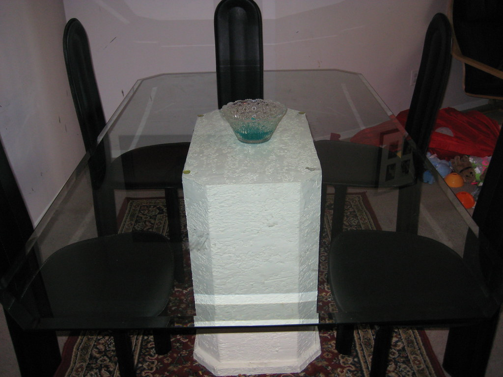 Italian Designer Glass Dining Table with Six Chairs - $395