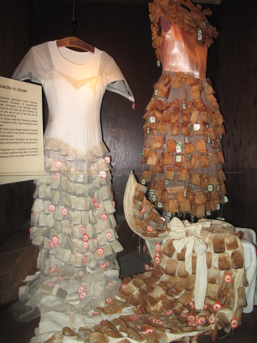 Hanging teabags on dresses