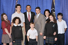 Peters Family with President Obama