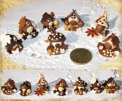 Casitas de chocolate (Noia Land) Tags: hoja mushroom cake butterfly easter star miniature leaf autum sweet chocolate ooak egg pascua huevos polymerclay otoo sculpey mariposa 112 seta estrella monas miniatura dulce chocolat tarta dollhouse kato arcillaspolimricas noialand