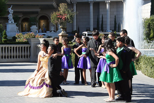 Quinceanera Court by Caesars Palace Fountains