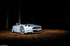 DBS ~ Autumn. (Denniske) Tags: november autumn silver photography gris am nikon shoot photoshoot angle martin belgium belgique wide belgi sigma automotive 11 09 shooting mm dennis 1020 7th 2009 60 07 aston limburg dbs zolder v12 silber noten d300 argento zilver f456 denniske dennisnotencom
