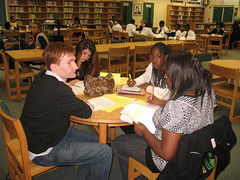 Gilbert Middle Debate Team researches evidence