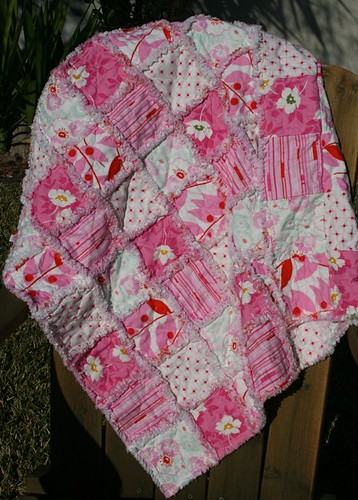 Rag Quilt -- Cherry Popsicle