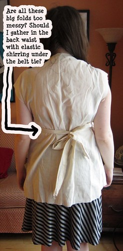 Vintage McCall's 5921 Maternity Dress Muslin in Progress