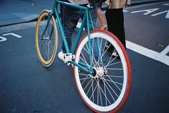 Fixed Gear (kenzodiazepine) Tags: film bike contax fixedgear t2