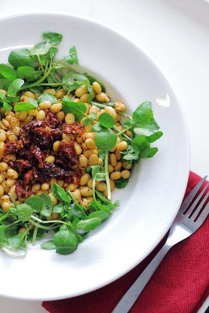 Soya Beans, Sundried tomatoes and Watercress