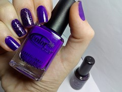Desafio dos Clássicos #1 - Disco Dress. (Raíssa S. (:) Tags: esmalte unhas nails nailpolish naillacquer purple colorclub cremoso glitter penélopeluz graduation