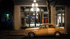 Getaway Car (BeyondThePrism) Tags: car classic vancouver canada city street streets streetlights night late dark volvo streetphotography streetside art classical wwwbeyondtheprismcom westcoast westcanada beyondtheprism prism castonguay castonguayjeanphilippe jpcastonguay evening exterior outside outdoor outdoors road drive driving roadside colour colourful color cityandcolour yellow pov structure digital d600 downtown gold gritty golden highlight highlights jeanphilippecastonguay jpc light lights clarity citycentre contrast clear vignette vignetting vancouverstreets nikon nikond600
