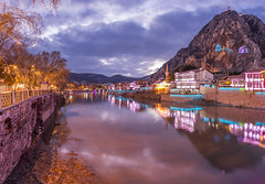 Amasya (Nejdet Duzen) Tags: tomb tower turkey destination historical town cave anatolia river travel turkish culture attraction restored castle history preserved palace old evening traditional building ottoman tourist historic sightseeing mirror unesco famous heritage architecture city anatolian blue king mountain house tourism antique ancient vintage clock landscape cityscape yesilirmak magara harsene kizlar aynali amasya