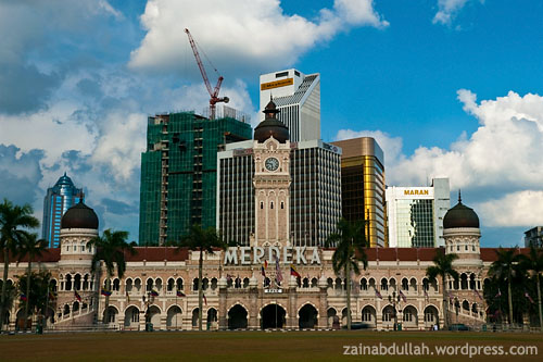 Sultan Abdul Samad Building with its modern counterparts in the background