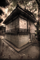 And Now for Something Completely Different (The Devil in the Detail) Tags: old detail building texture japan architecture photoshop canon dark tokyo rust shrine asia antique decay wide hdr 17mm 3xp photomatix tonemapped enhancer 5dmarkii