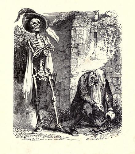 003-La muerte y el leñador-Fabulas La Fontaine-J.Grandville