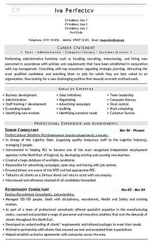 academic curriculum vitae template. CV and Resume Templates at