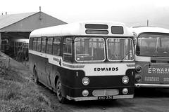In the forest (Fray Bentos) Tags: bus weymann singledecker aecreliance aldershotdistrict aldervalley edwardscoachesjoysgreen xho374