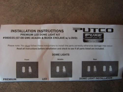 3575404733_4d1fd174d1?v=0 putco led interior light kit installation gmc acadia forum Hitch Wiring Harness Diagram at suagrazia.org