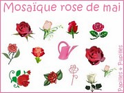 Mosaique Rose de Mai