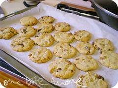 choc ginger walnut cookies