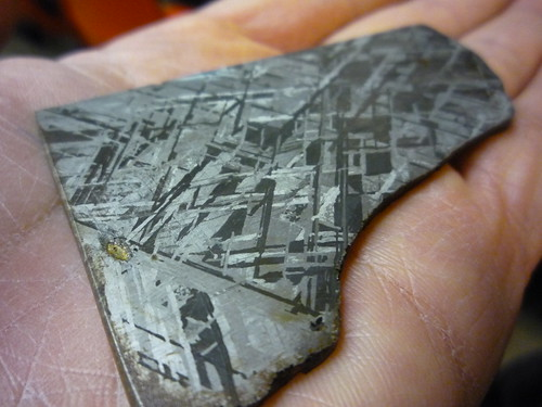 Widmanstatten Pattern in iron-nickel meteorite