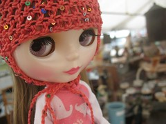 Christina at the flea market
