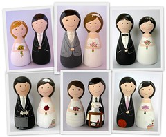 Belle Bellica  -  Noivas e noivos (Belle Bellica) Tags: groom bride couple doll caketopper boneca casal noiva woodendoll noivos noivinhos bellebellica