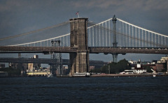 Three Bridges: Brooklyn Br., Manhattan Br., Williamsburg Br. (Battery Park City, New York, United States) Photo