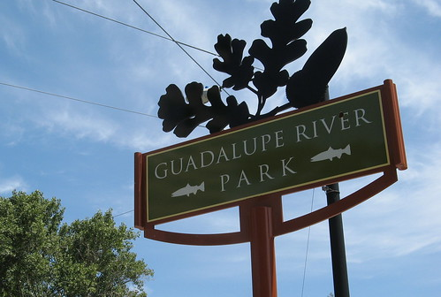 Guadalupe River Park sign by busybeingborn from Flickr