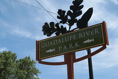 Guadalupe River Park sign