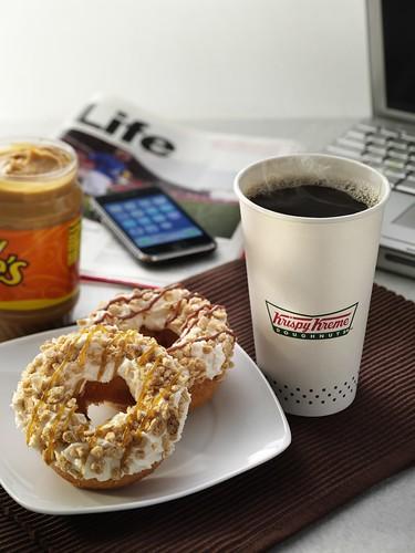 Krispy Kreme Peanut Butter & Stripes Doughnut