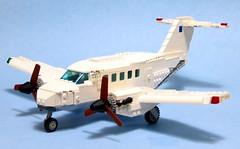 airplane lego wip aeroplane beechcraft hawker turboprop jurassicpark moc kingair