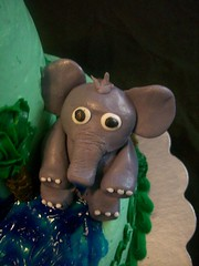 fondant elephant figure (Enchanted Cakes of Brevard) Tags: elephant fondant