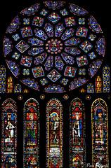 Chartres Transepto Norte (Paco Barranco) Tags: stainedglass vidrieras chartres vitrais vitrales arteglass pacobarranco